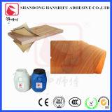 棒の木製の皮の白い接着剤の付着