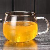 Tazza di tè di vetro fatta a mano con la tazza di caffè della tazza del regalo della prima colazione della maniglia