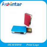 금속 책 USB 플래시 디스크 푸시-풀 소형 USB 지팡이