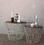 Retro americana chá em madeira maciça criativo de mesa Sala de Chá de ferro todo visitante Tabela pode ser personalizado (M-X3412)