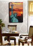 Vente en gros 2016 Dernières peintures à l'huile à LED sur toile Statue de Liberty Landscape