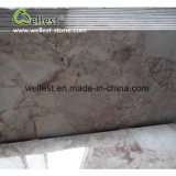 Pavimento non tappezzato di marmo della Rosa che pavimenta le mattonelle decorative della parete delle mattonelle fare un passo della scala delle mattonelle