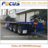 De zware Lange Aanhangwagen van de Vrachtwagen van het Bed van Voertuigen Vlakke voor Vervoer van de Container
