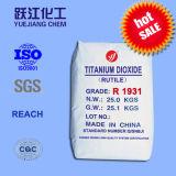 Het uitstekende het Kleuren Dioxyde van het Titanium van het Rutiel van de Sterkte voor Plastieken, Keramiek en Document (R1931)