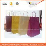 El reciclaje de papel marrón diferentes tipos de bolsas de papel con asas