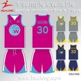 [هلونغ] جديد تصميم ملابس رياضيّة ترس أيّ رقم فريق ناد تصميد كرة سلّة جرسيّ