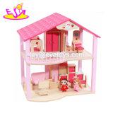새로운 디자인 역할 실행 W06A261를 위한 작은 분홍색 나무로 되는 아이 인형 집