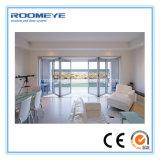 Porte de pliage en verre en aluminium de Frameless de puits de qualité de Roomeye
