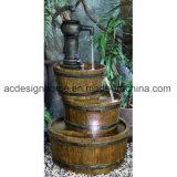 Fontana di acqua decorativa esterna di Polystone di tre strati del il migliore di prezzi giardino sciccoso elegante splendido antico di immaginazione con l'indicatore luminoso del LED