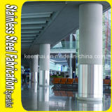 Rivestimento decorativo della colonna edificio di Constructual dell'acciaio inossidabile