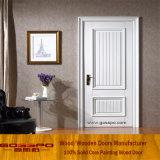 Pintura blanca de caoba diseños de puertas de madera maciza (GSP2-079)