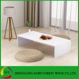 Preço barato melamina moderna mesa de café simples de madeira