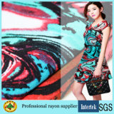 Fabricante Fornecimento de tecido de raios impressos para vestuário feminino