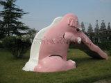 象のガラス繊維の子供のスライド