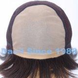 Parrucca delle donne dei capelli del Virgin con la parte superiore francese legata mano