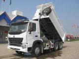 팁 주는 사람 트럭을 - 채석장과 채광에 있는 모래 돌을%s - 기울이는 Sinotruk A7 6X4 290HP 덤프 트럭 30ton