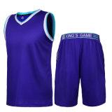 熱い販売の昇華ジャージーVの首のバスケットボールのトレーニングのスーツ