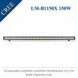 Lmusonu 경쟁적인 4X4 부속품은 48.3 인치 차 LED 표시등 막대 150W 호리호리한 단 하나 줄을 구부렸다