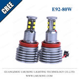 L'angelo automatico dell'automobile del LED Eyes 2*80W chiaro 1300lm 6000K H8 per BMW E90 E91 E92