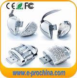 공장 제품 심혼 모양에 의하여 보석으로 장식되는 USB 플래시 디스크 리눅스 USB (ES200)