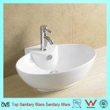 Salle de bains de bonne qualité de céramique artistique du bassin de forme ovale