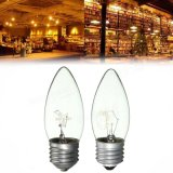 E27 25W/40W Blanc Chaud Vintage Edison bougie à incandescence ampoule lampe AC220V