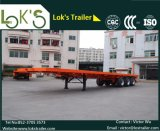 Semi-Trailer 3axles Flatbed de 40FT (pneumáticos dobro)