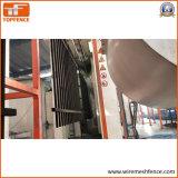 1,8 m x 2,35m de valla de acero tubular de paneles, paneles de valla de seguridad