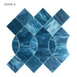 Листы мозаики цветного стекла плитки стены ванной комнаты размеров таможни по-разному