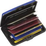 Новый кожаный нас ID Wallet провод фиолетового цвета кожи корпусе карты памяти