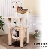 Mobilier de luxe Scratcher haute cat cat Jumping Toy de rayer le bois de la tour d'escalade Cat Tree