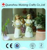 Decoração linda cor resina Anjo suporte para velas decorativas