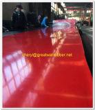 Buena resistencia al desgaste, la alfombrilla de goma roja+ Cr/SBR/Nr Hoja de Caucho rojo/alfombrilla de goma