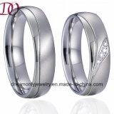 Чисто Titanium стальные пары кец перста захвата полосы серебряного венчания