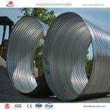 Corrugado de gran diámetro del tubo de acero galvanizado con alta calidad a México