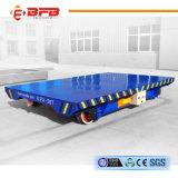Vagão liso elétrico pesado da manipulação material para a carga pesada de transferência