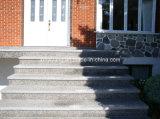 Polissage naturel à l'extérieur des marches en pierre des escaliers en granit (YQC-S1002)