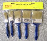 Poils mixte de la poignée en plastique 5PCS Paint Brush définie