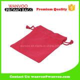Saco de Drawstring vermelho da embalagem do casamento do algodão da forma