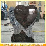 Het hart vormde HerdenkingsPlaque in de Dageraad van het Graniet