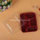Kundenspezifisches Plastikgaststätte-Schnellimbiss-Tellersegment (pp.-Nahrungsmittelbehälter)