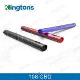 통과되는 Kingtons Disrechargeable 기화기 펜 건전지 108 Vape 펜 Cbd 기름 세륨