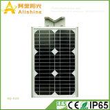 새로운 20W 옥수수 속 생활 Po4 건전지와 센서를 가진 통합 태양 가로등