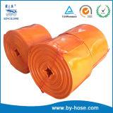 La poser à plat de l'irrigation de la pompe de tuyaux en plastique PVC