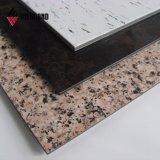 PVDF revêtement Look Pierre panneau composite aluminium à revêtement mural