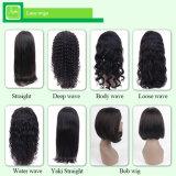 Qualidade superior frente Lace Cor Natural 100% de cabelo humano peruca