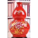 Chinese Rode Geschilderde Vaas Lw606