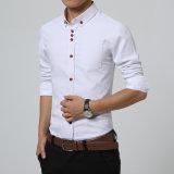 Form-Mann-beiläufige Hemd-lange Hülsen-dünne Sitz-Mann-Qualitätmens-Hemden