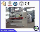Machine de tonte hydraulique de plaque en acier de la commande numérique par ordinateur QC11K-20X8000