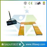 유압 정지되는 상승 테이블